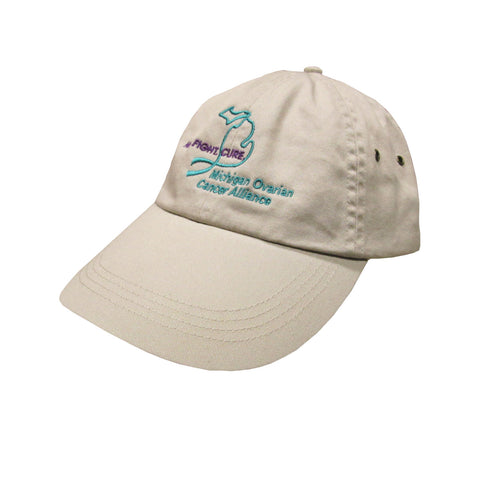 Michigan Teal Ribbon Hat - Wheat