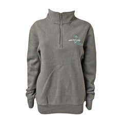 Michigan Teal Ribbon Unisex 1/4 Zip - Graphite