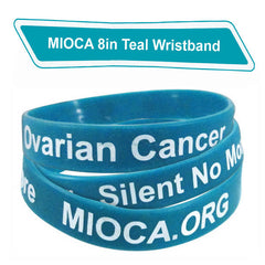 MIOCA 8 in Silicone Bands (10 pack) - Teal