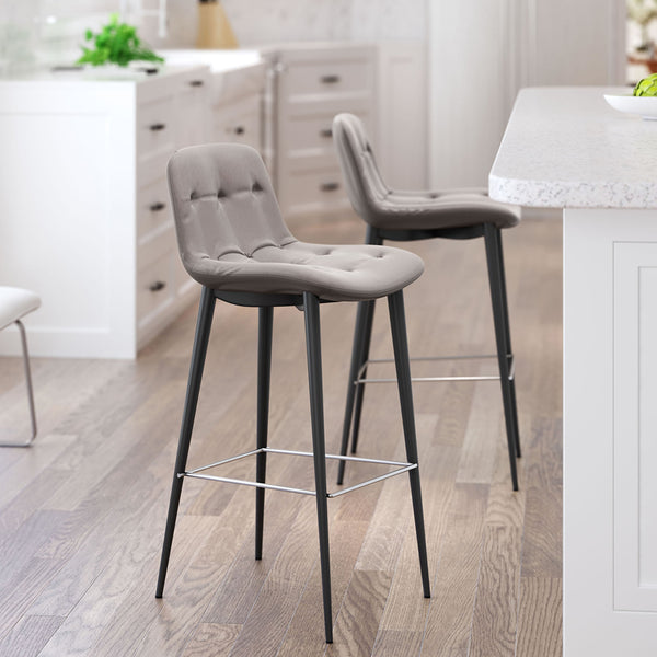 Leatherette Stool (Set of 2)