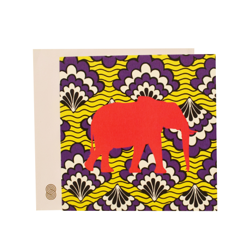 A Love Supreme Square Notecard - Elephantise