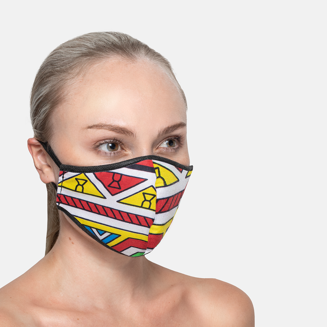 Thandana 3ply Face Mask - Shweshwe Traditional