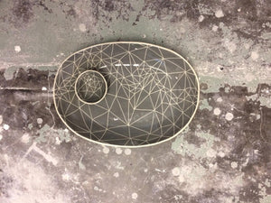 Mudness Salt Dish - Charcoal Web