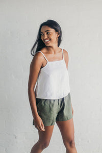 Janni & George Tie Shorts - Olive