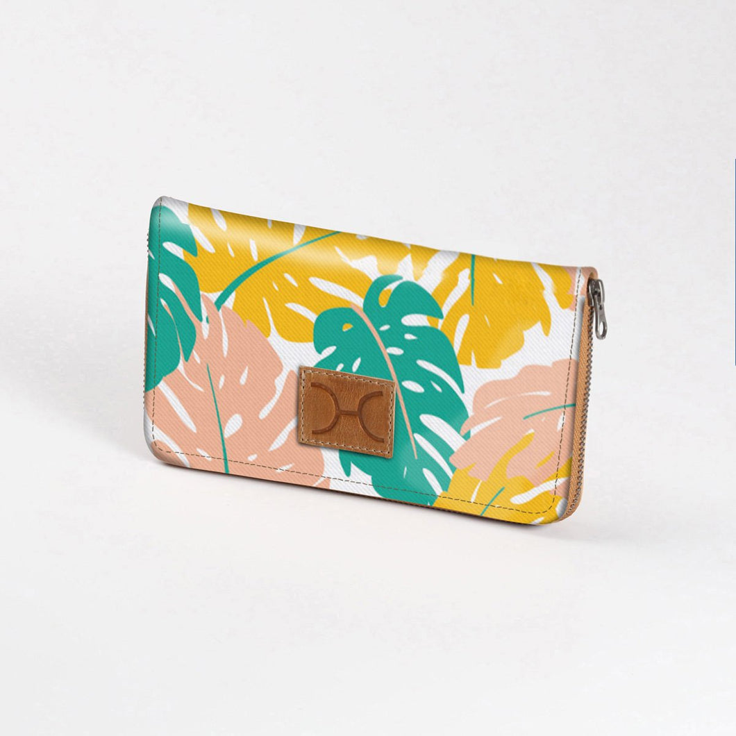 Thandana Large Ladies Wallet - Leafing Around - Daffodil