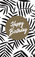 Load image into Gallery viewer, Flowermill Wine Tag - Happy Birthday Frond