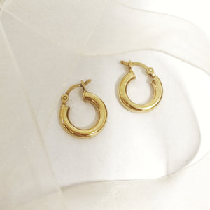 Christy-Anne Jewellery Small Hoops  (yellow gold plated)