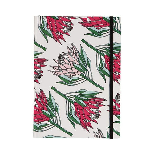 A Love Supreme Hardcover Lined Notebook - King Protea Pink & White
