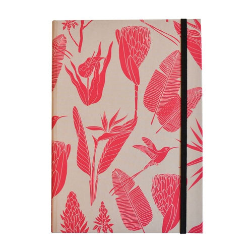A Love Supreme Hardcover Lined Notebook - Botanicals Pink on Sand