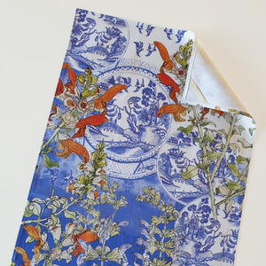 CoralBloom Cotton Tea Towel - Delft