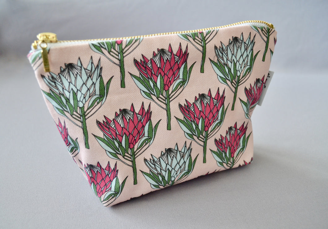 A Love Supreme Make-up Pouch - King Protea Pink on Pink