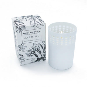 Madame Luna Perforated Porcelain Candle - Jasmine