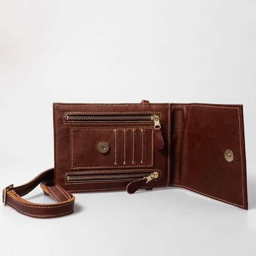 Thandana Urban Cellphone Sling Tobacco leather