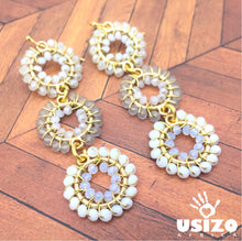 Load image into Gallery viewer, Usizo Baby Trio Earrings - Whites