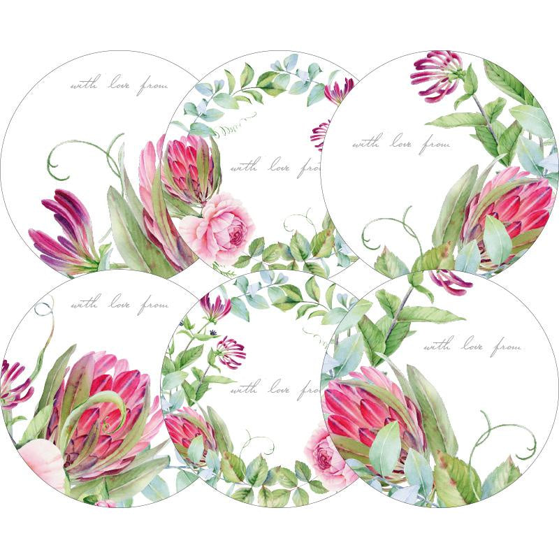 Moon & Back Gift Sticker 24 Pack - Protea