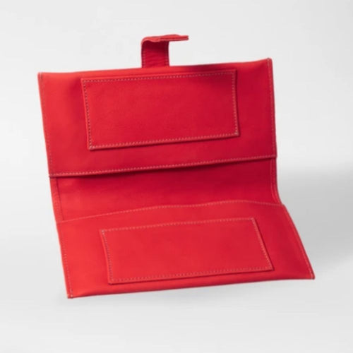 Thandana nappy wallet - red leather