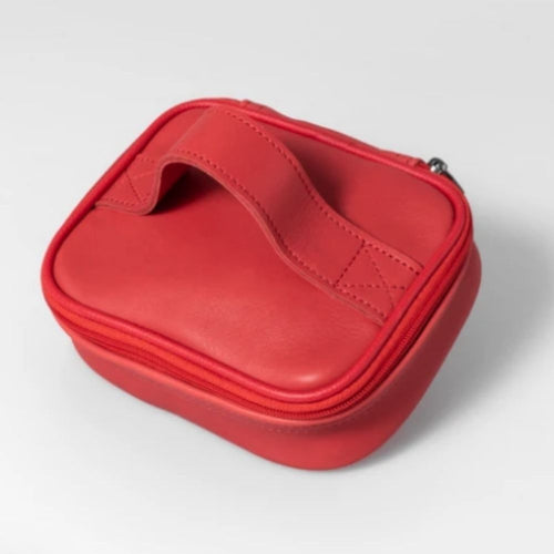 Thandana single toiletry bag - red leather