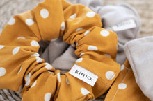 Load image into Gallery viewer, Kimo Scrunchies - Mustard Polka