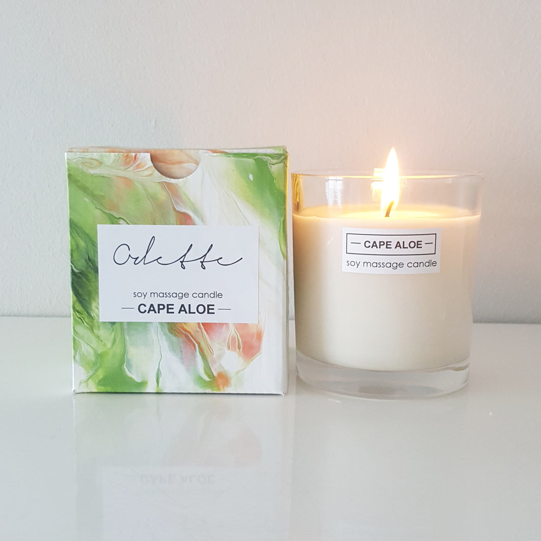 Odette Uys Soy Massage Candle - Cape Aloe