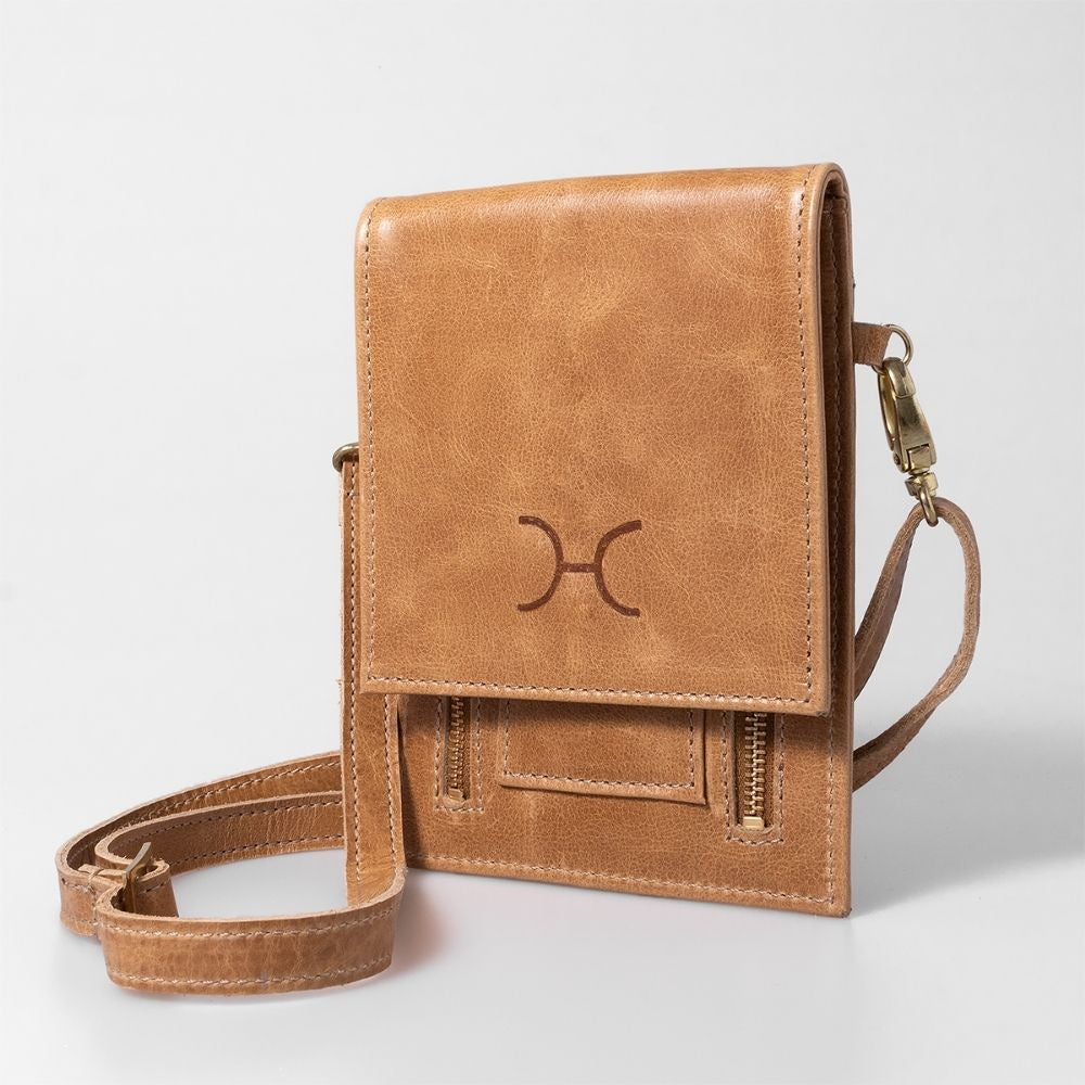Thandana Urban Cellphone Sling Hazelnut leather