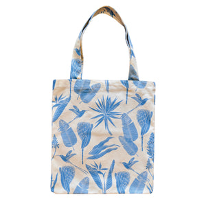 A Love Supreme Tote Bag - Botanicals Blue on Sand
