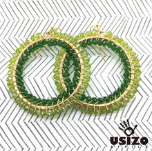Load image into Gallery viewer, Usizo Big O Earrings - Greens Translucent