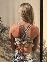 Load image into Gallery viewer, Rush Sports Bra - Ivory Cobra