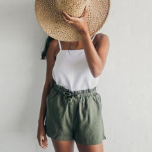 Load image into Gallery viewer, Janni & George tie shorts - olive
