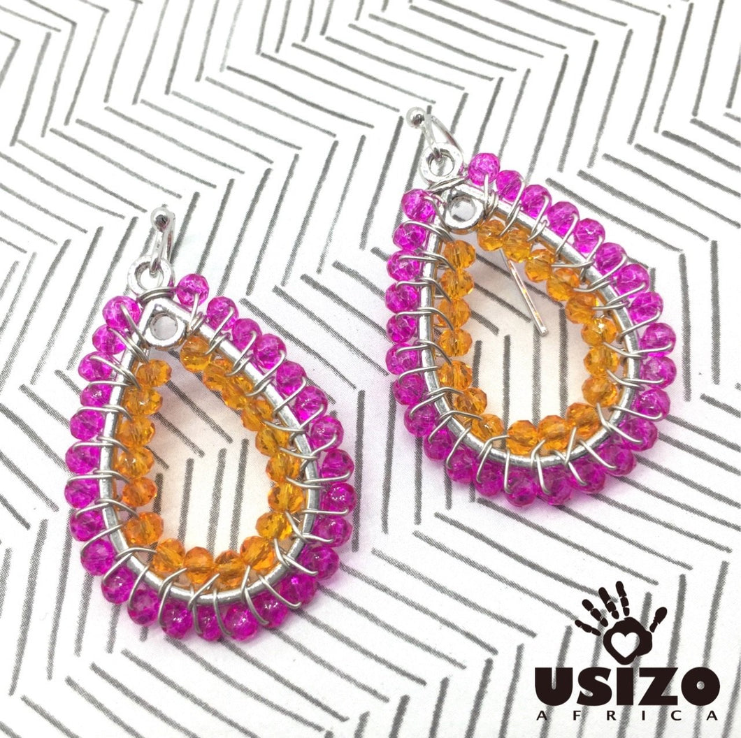 Usizo Baby Joy Drop - Pink/Orange