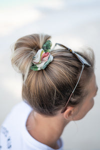 Kimo Scrunchies - Palmy Satin Olive Green