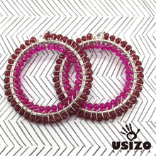 Load image into Gallery viewer, Usizo Big O Earrings - Ruby/Pink