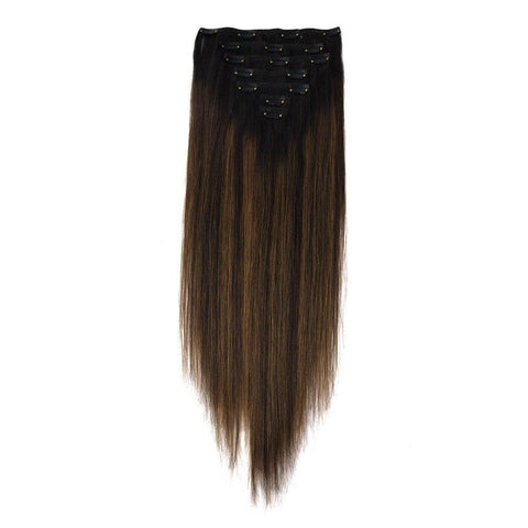 extensions cheveux chatain balayage miel
