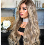 Perruque lace blonde