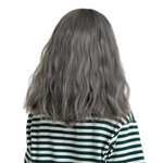 Perruque Cheveux Gris Mi-Long