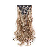 Extension cheveux clip blond méché