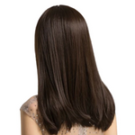 Perruque femme brune long cheveux synthetique