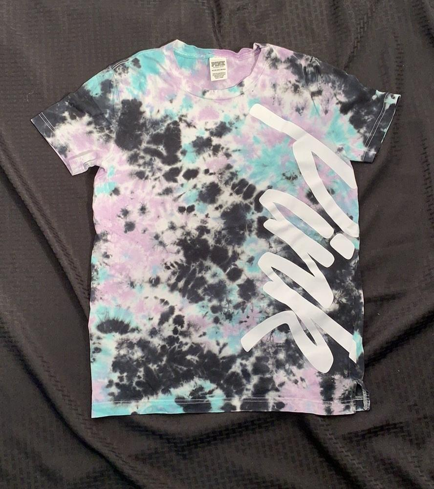 Pink by Victoria's Secret Tie Dye Tee