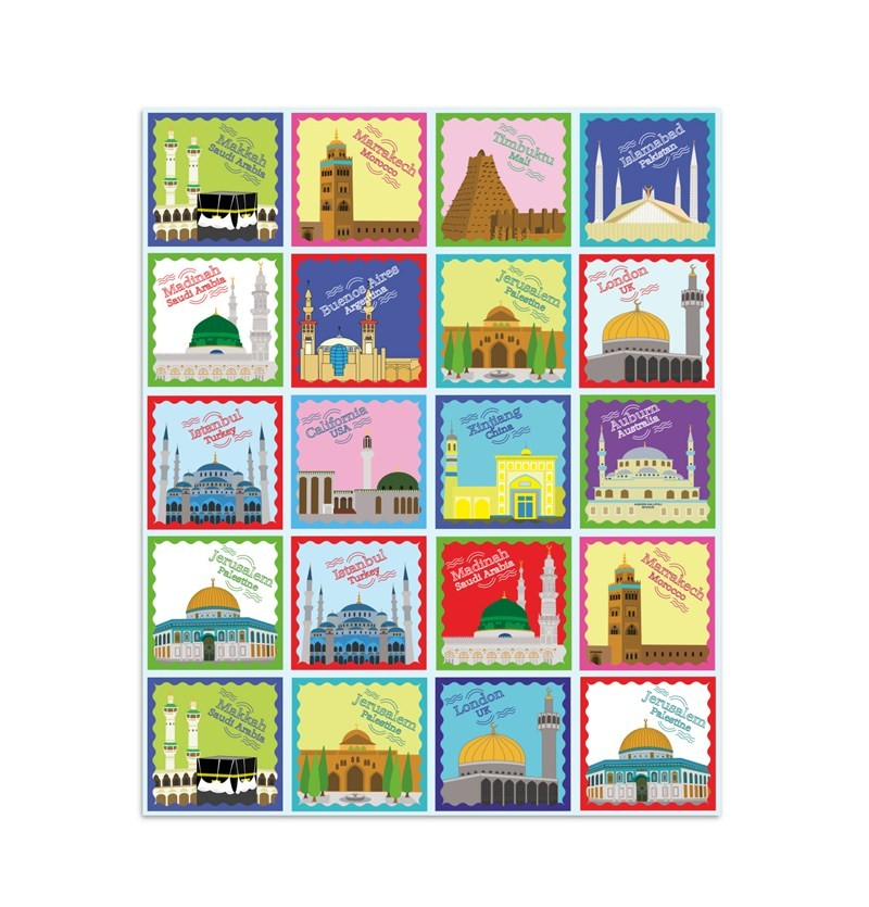 Mosques Around The World Fun Stickers