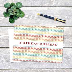 Birthday Mubarak Card