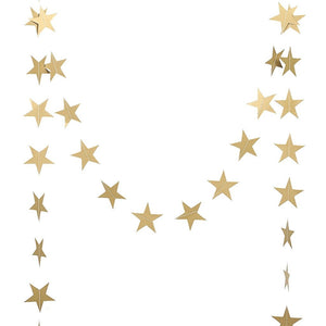 Metallic Gold Star Garland