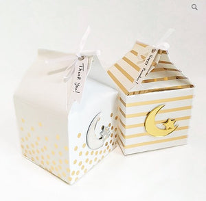 Gold Stamped Favor Boxes (Set of 6)