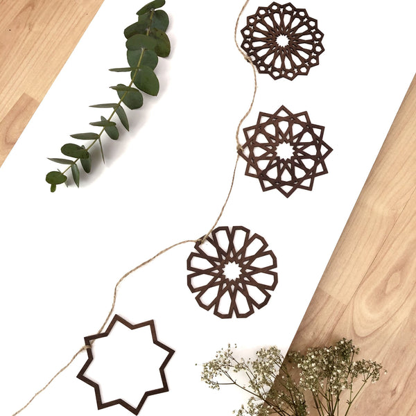 Laser Cut Hanging Ornaments Bunting Kit