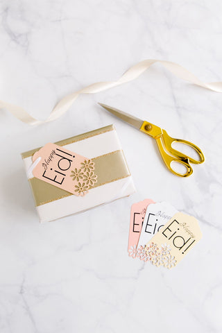 "Lace ""Happy Eid"" Gift Tags (Set of 12)"