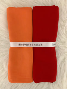 Berry Pumpkin Hijaab Duo