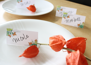 Printable Fall Place Card