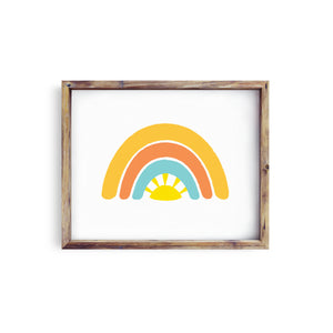 Sunshine & Rainbow Print