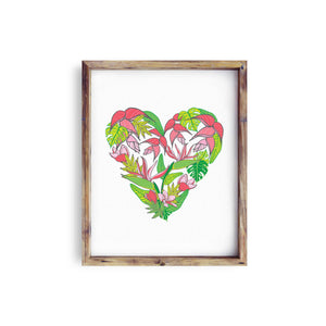 Tropical Heart Art Print