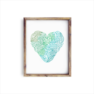 Fern Heart Art Print