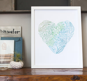 Fern Heart Art Print (11x14)