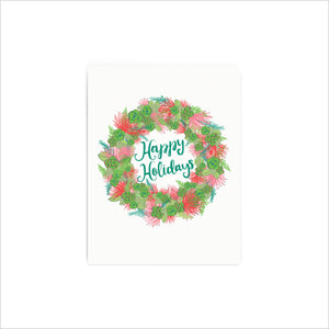 Happy Holidays Ohia Wreath